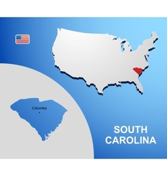 South Carolina vector image vector image