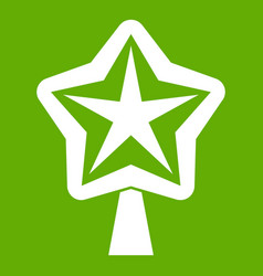 Star for christmass tree icon green vector