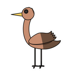 Stork bird cartoon vector