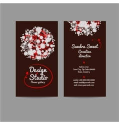 Style business card with floral bouquet vector