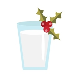 Milk for santa icon isolated on white vector