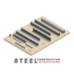 Many shape section steel isometric vector
