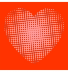 Red heart with holes vector
