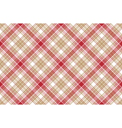 Beige red white plaid seamless background vector