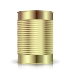 metallic cans  food tincan ribbed metal tin vector image