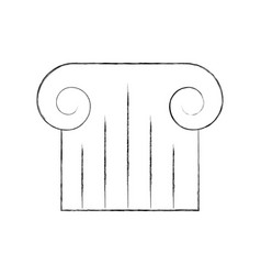 Museum column isolated icon vector