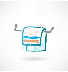 Towel grunge icon vector
