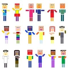 pixelized people vector image