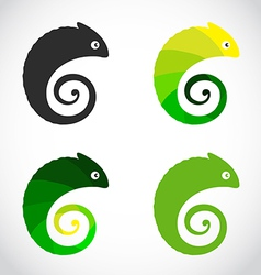 group of chameleon vector image
