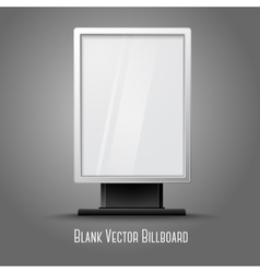 Blank white vertical billboard with place for your vector