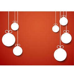 Christmas background with paper balls vector