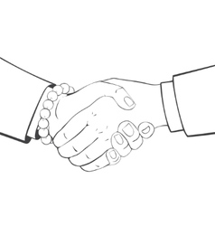 Close-up handshake business people vector
