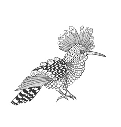 Zentangle stylized bird vector image