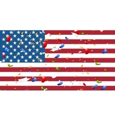 Presidents day abstract usa flag colors background vector