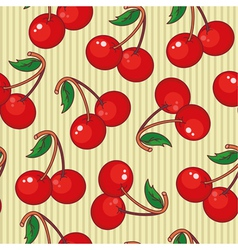 seamless cherry vector image