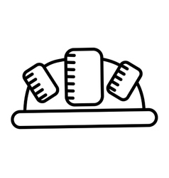 Helmet drawing isolated icon design vector