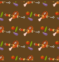 barbecue home seamless pattern background rarty vector image