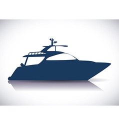 Boat design vector