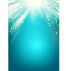 Bright sun light vector image