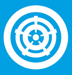 Car wheel icon white vector