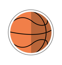 Cartoon basketball ball play vector