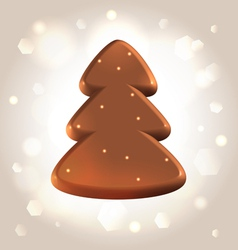 Chocolate new year tree star fugure prize vector image