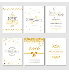 Christmas and new year cards - art deco style vector