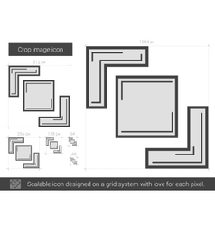 Crop image line icon vector