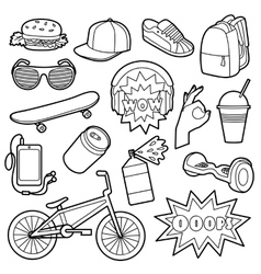 Fashion Patch Set vector image