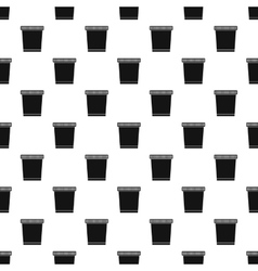 Garbage can pattern simple style vector