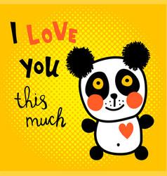 halftone panda vector image