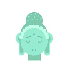head of buddha vector image