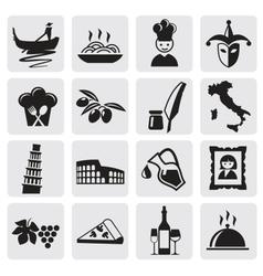 Italian icons vector image vector image