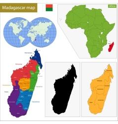 Madagascar map vector