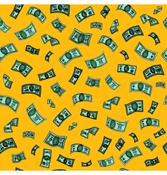 Money background dollar seamless pattern vector