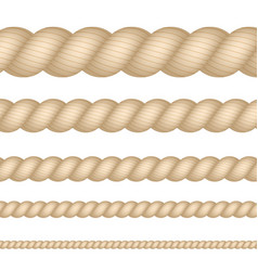 nautical marine naval twine thickness rope set vector image