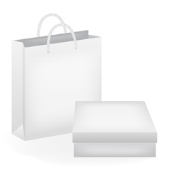Paper bag and box vector image