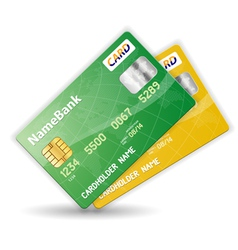 plastic credit cards vector image vector image