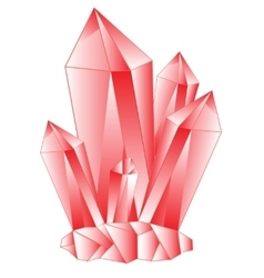 Red stone crystal vector