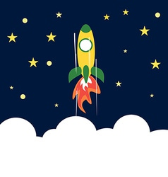 Rocket Flying Up to Space Concept of Success vector image vector image
