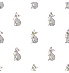 sphynx icon in cartoon style isolated on white vector image vector image