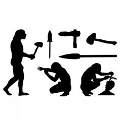 stone age vector image