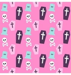Trendy colors death halloween pattern vector