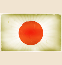 Vintage japan flag poster background vector