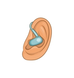Hearing ear icon cartoon style vector