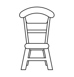 wooden chair vintage thin line vector image
