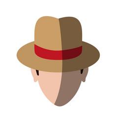 Spy or investigator avatar icon image vector