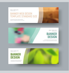 Template of white standard web banners with space vector