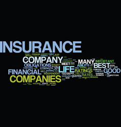 Life insurance quotes for the consumer text vector
