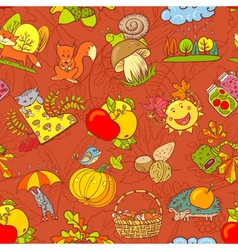 Fall season seamless vector